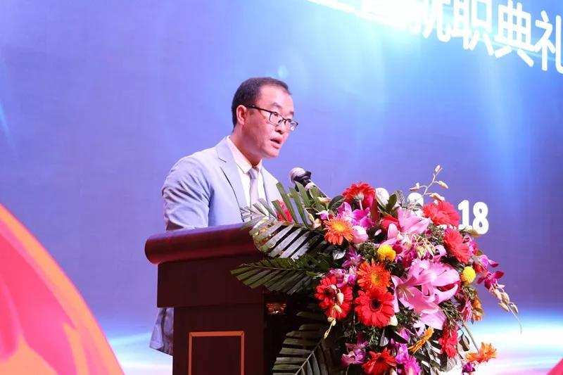 市电子商务联合会会长郑建科祝贺协会的成立
