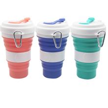 廠家定制硅膠折疊咖啡杯,折疊硅膠水杯,創意硅膠折疊咖啡水杯