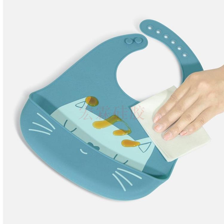 兒童硅膠口水兜,嬰兒硅膠口水兜