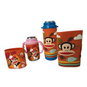 热销环保食品级硅胶水杯套户外便携式 可折叠礼品矽膠杯套